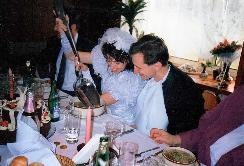 Jakub Unucka a svatba s Mirkou v Jeseníku 1.4.1995