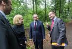 Jakub Unucka. Setkání s aktuálním a budoucím ministrem životního prostředí v klimkovickém Lesnim parku.