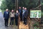 Jakub Unucka. Slavnostního otevření Lesního parku se zúčastnili zástupci Rotary klubu a Evropského parlamentu.