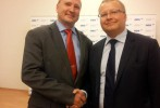 Jakub Unucka a ministr životního prostředí Tomáš Chalupa na tiskové konferenci ODS.
