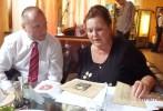 Jakub Unucka a Lýdie Konstatinovna, neteř klimkovického hrdiny V.A. Staška na prvním setkání u Lvova.