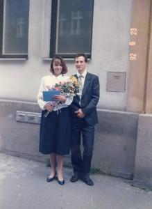 Jakub Unucka. Promoce v roce 1992 jsme absolvovali s Mirkou pár dní po sobě.